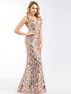Ever-Pretty Fishtail Rose Gold Sequin Dresses For Women-Rose Gold 8