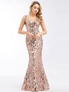 Ever-Pretty Fishtail Rose Gold Sequin Dresses For Women-Rose Gold  9