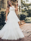 Women'S Double Deep V Neck Wedding Dresses-White  1