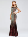 Women'S Cap Sleeve Sequin Dress Mermaid Party Dress-Gold 13