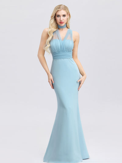 Women's Sweetheart Neckline Self-tie Bodycon Mermaid Dress