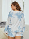 Women'S Casual Tie-Dye Pajamas Loungewear Set-Sky Blue 12