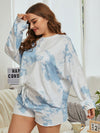 Women'S Casual Tie-Dye Pajamas Loungewear Set-Sky Blue 14