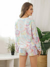 Women'S Casual Tie-Dye Pajamas Loungewear Set-Multicolor 2