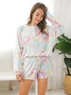 Women'S Casual Tie-Dye Pajamas Loungewear Set-Multicolor 3
