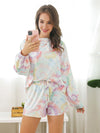 Women'S Casual Tie-Dye Pajamas Loungewear Set-Multicolor 4