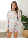 Women'S Casual Tie-Dye Pajamas Loungewear Set-Multicolor 1