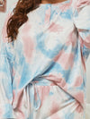 Women'S Casual Tie-Dye Pajamas Loungewear Set-Light Blue 10