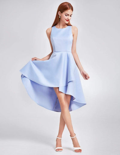 Sleeveless High Low Cocktail Party Dress
