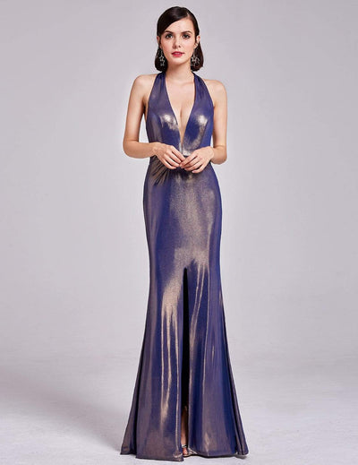 Sexy Halter Neck Long Evening Dress