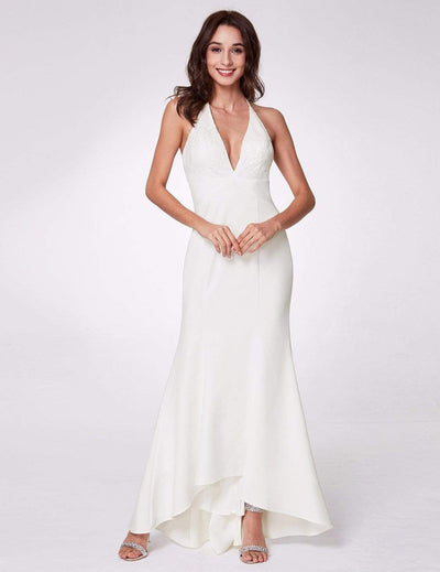 Sexy Halter V Neck Long Evening Gown