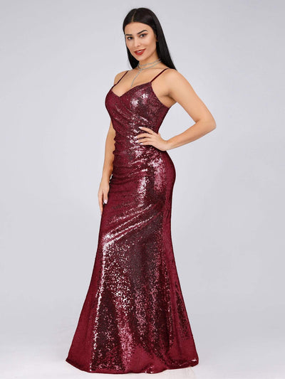 Sexy Sequin Evening Gown