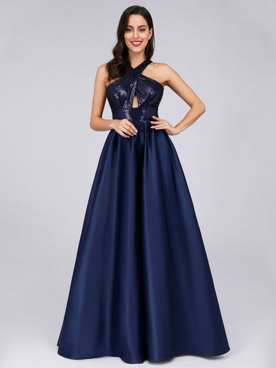 Cold Shoulder Sequin Prom Dresses for Women
