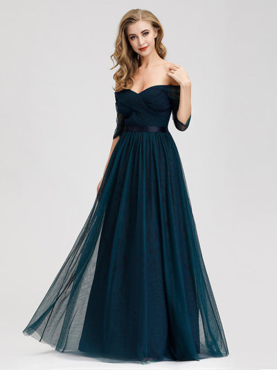 Sexy Off Shoulder Floor Length Evening Party Dress