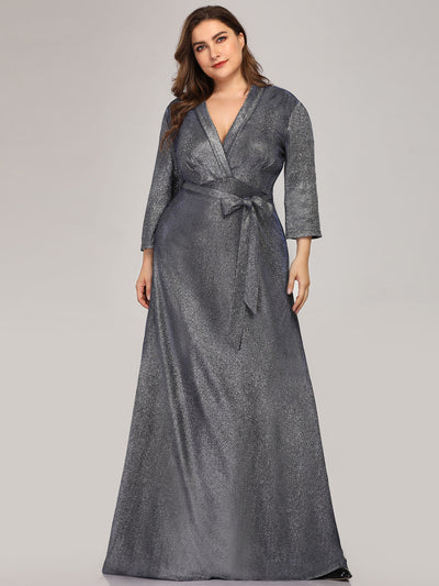 Elegant Plus Size Floor Length Party Dress