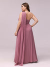 One Shoulder Evening Dress-Purple Orchid 2
