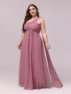 One Shoulder Evening Dress-Purple Orchid 5