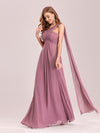 One Shoulder Evening Dress-Purple Orchid 1