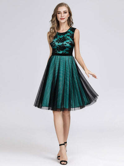 A Line Keen Length Cocktail Dresses for Women