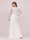 Fishtail Dresses With Long Lace Sleeve-Cream 2
