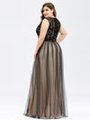 Maxi Long Prom Dresses With Mesh-Black 11