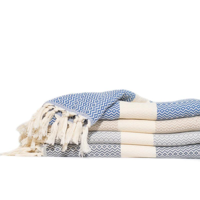 Baby Elmas Turkish Towel - Medium Grey