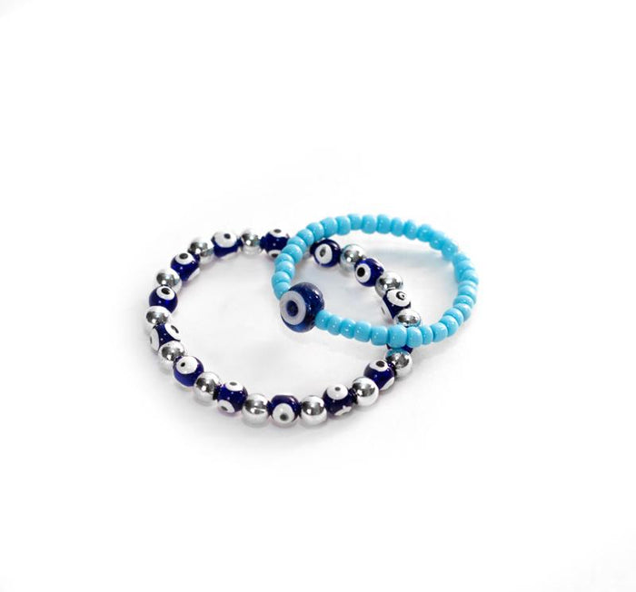 Child's Evil Eye Bead Bracelet