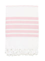 Classic Herringbone Striped Turkish Towel - Light Pink