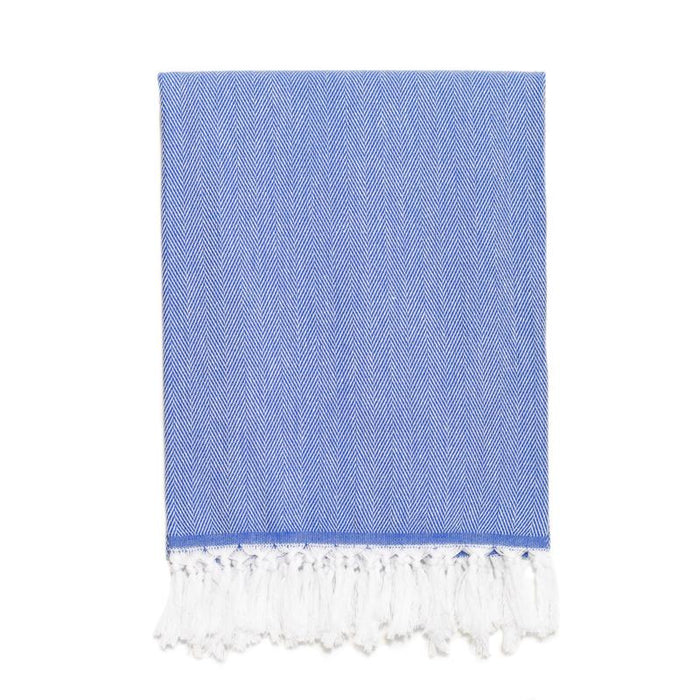 Classic Herringbone Turkish Towel - Royal