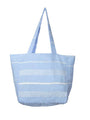Classic Striped Turkish Towel Bag - Light Blue