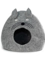 Fancy Gourd Cat Cave from Nepal - Pale Heather Grey