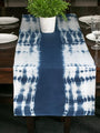 Hand Dyed Shibori Table Runner - Brain Waves