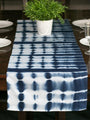 Hand Dyed Shibori Table Runner - Bubble Patches