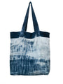 Hand Dyed Shibori Tote Bag - Brain Waves