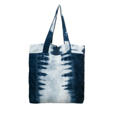 Hand Dyed Shibori Tote Bag - Feather Road