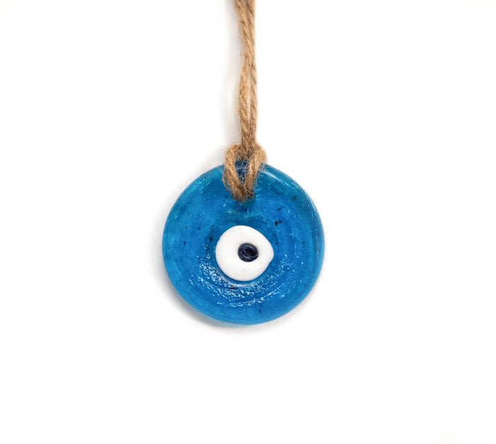 Hand Fired Glass Evil Eye - Small
