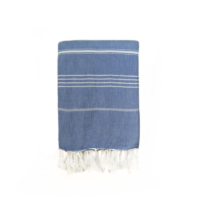 Jumbo Traditional Turkish Towel - Indigo