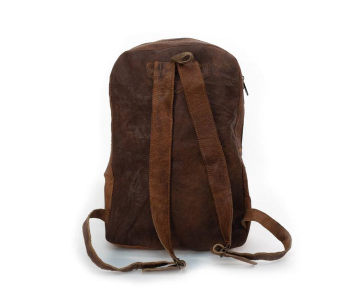 Large Water Buffalo Leather Backpack from Nepal