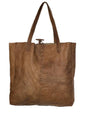 Large Water Buffalo Leather Shopping Bag