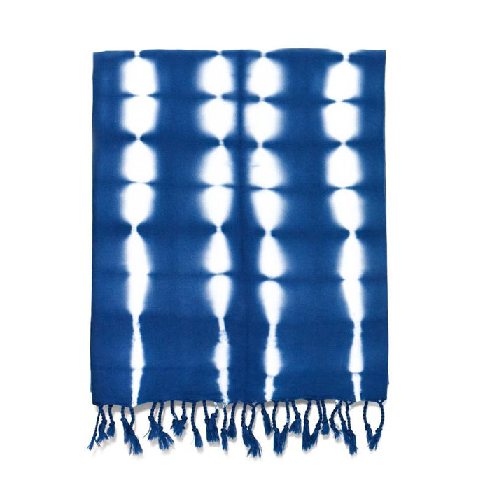 Medium Weight Shibori Turkish Towel - Shades of Indigo