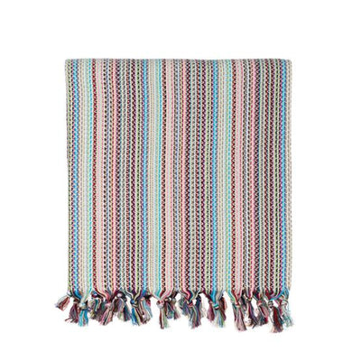 Multi-Colored Woven Turkish Throw - Dark