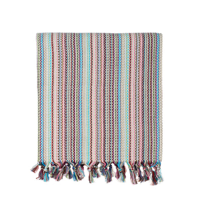 Multi-Colored Woven Turkish Throw - Light