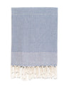Pebble Weave Turkish Bath Towel - Denim