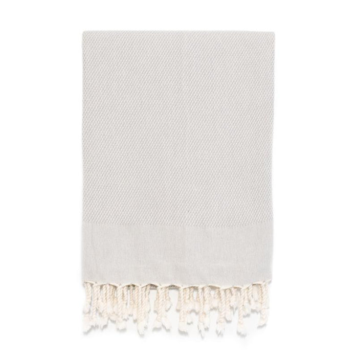 Pebble Weave Turkish Bath Towel - Grey