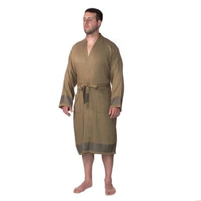 Premium Turkish Cotton Bathrobe - Khaki Green