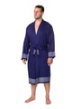 Premium Turkish Cotton Bathrobe - Navy