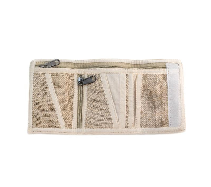 Pure Hemp Trifold Wallet from Nepal