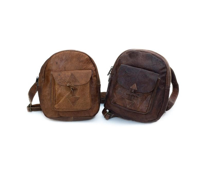 Small Water Buffalo Leather Backpack