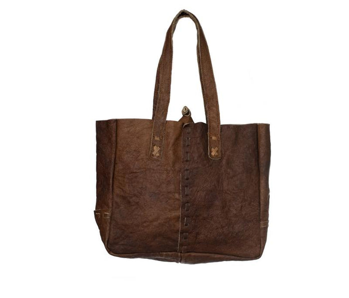 Small Water Buffalo Leather Shopping Bag