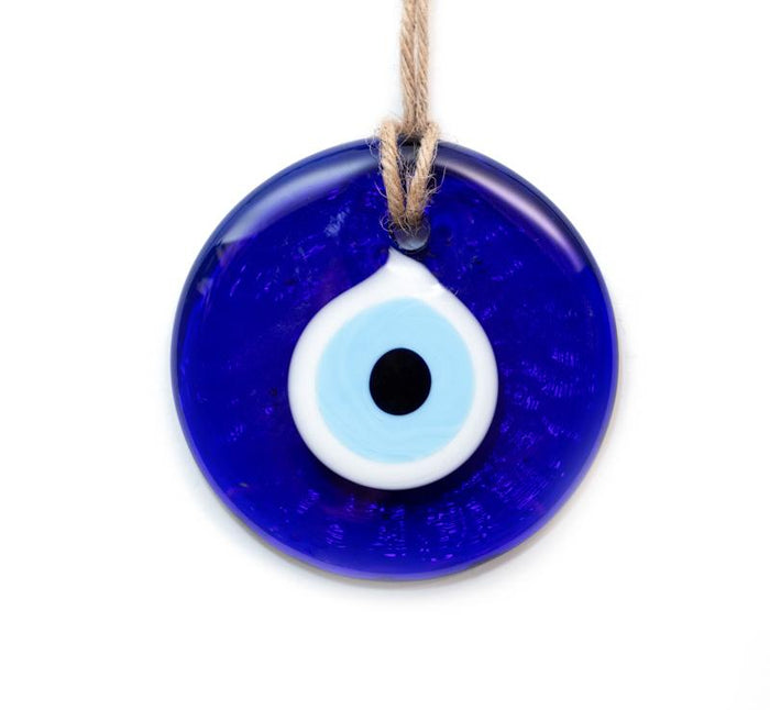 Traditional Blue Glass Evil Eye - Large